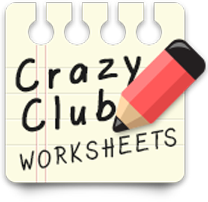 the crazy club books printable worksheets. Black Bedroom Furniture Sets. Home Design Ideas